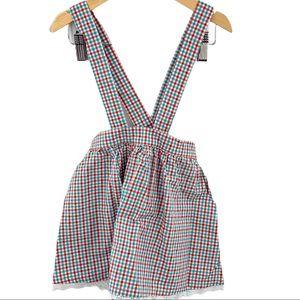 Bobo Choses Vichy braces suspender skirt 4/5y New